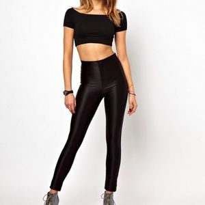 American apparel black  disco pants M